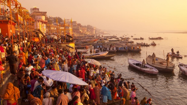 Ganges, Varanasi, India: Few river-cruise ships make it this far up the Ganges, and then only in periods of high water, ...