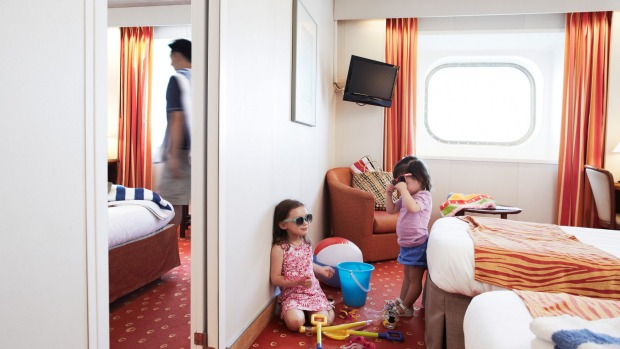 Family fun: A interconnecting cabin on Pacific Pearl.