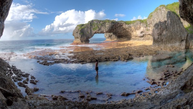 Niue is honeycombed with caves, above and below the waterline.