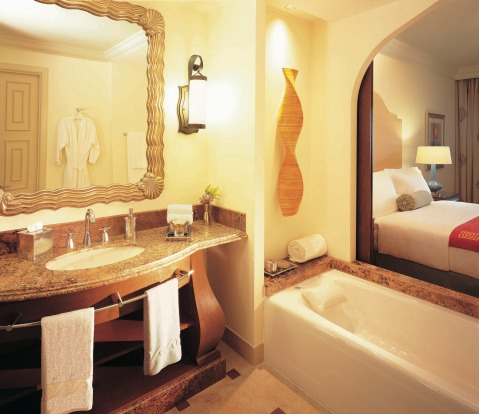A bathroom at The Palm Atlantis.