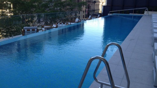 Open to the public: The hotel pool is yet to draw the crowds but expect that to change as word spreads.