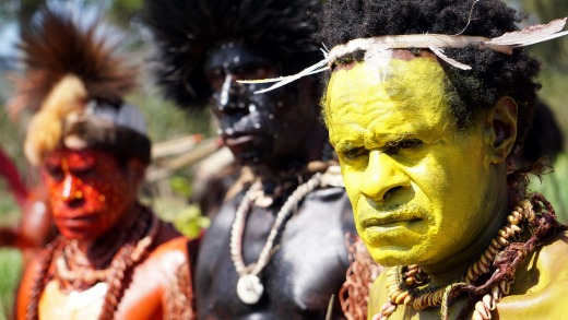 Foi tribesmen at the Mount Hagen Cultural Show.