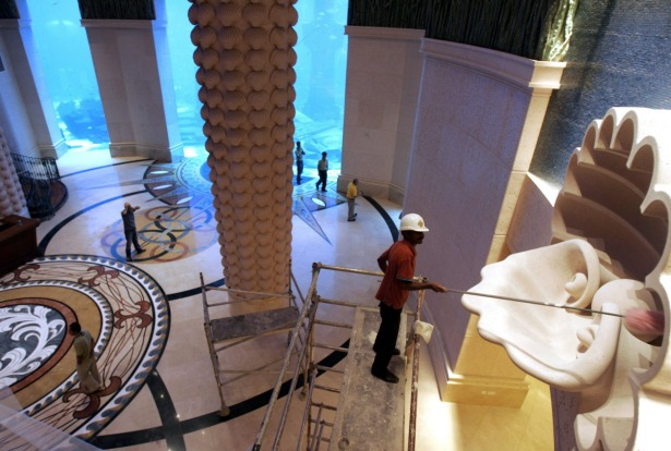 Much of the focus at the Atlantis, modelled on a sister resort in the Bahamas, is on ocean-themed family entertainment.