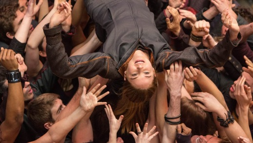 The most popular film with Qantas passengers this year was Divergent.