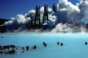 Aptly named: Iceland's Blue Lagoon.