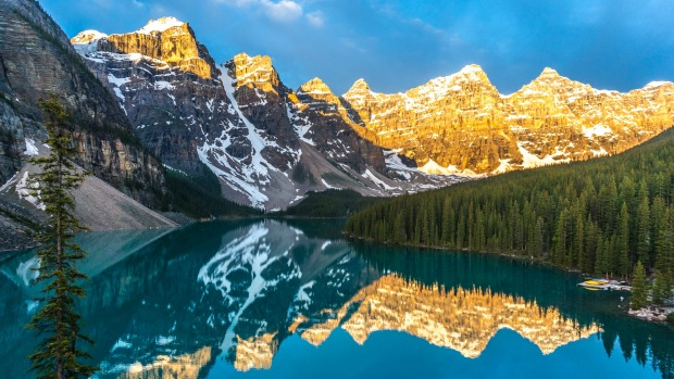 I recently spent a night at Moraine Lake. I got up before sunrise and walked up the rockpile which has wonderful views ...