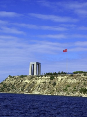 The Canakkale Martyrs Memorial.