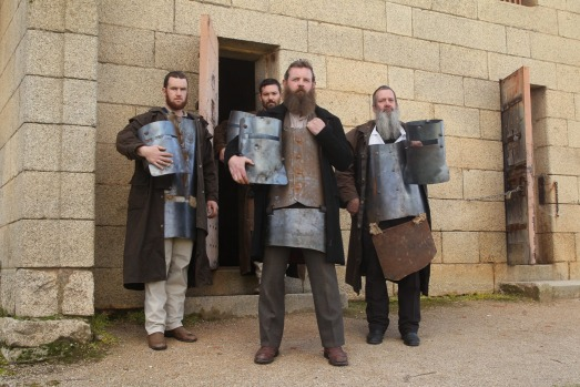 Ned Kelly re-enactments are a regular feature in Beechworth.