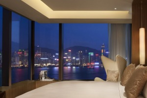 View master: a bedroom in Hong Kong's Hotel Icon.