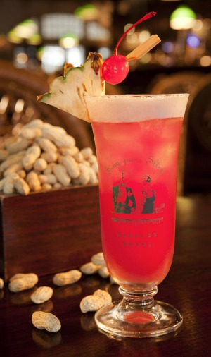 Classic tipple: A Singapore Sling with peanuts at Raffles.