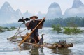 The best: Mike Clements' image of a Chinese fisherman was judged as the best in The Big Picture competition.