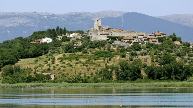 Ancient village:  On Trasimeno Lake.
