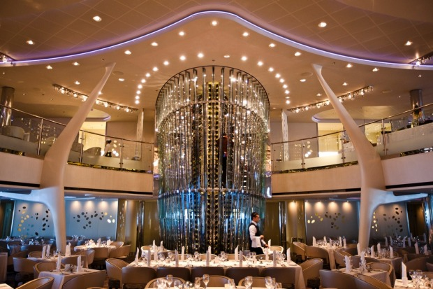 The Grand Epernay dining room on board Celebrity Solstice.