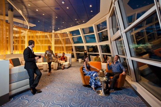 The Sky Observation Lounge on board the Celebrity Solstice.