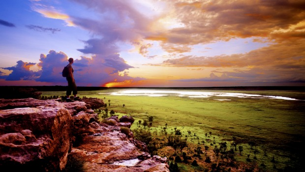 Both cultural and natural: Ubirr sunset, in Kakadu National Park, Northern Territory.