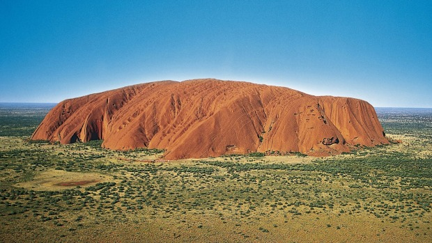 Part of a belief system of the local Anangu people: Uluru.