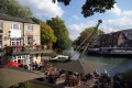 Renovated boatyard: The head of the river pub at Folly Bridge faces Salter's Steamers which dates back to 1858.