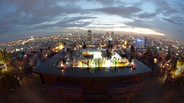 See sophistication in Bangkok at one of the many rooftop bars, such as the Banyan Tree's Moon Bar.