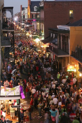Visit New Orleans during the Mardi Gras parades and you will have a readymade mega-schoolies: Bourbon Street in the ...