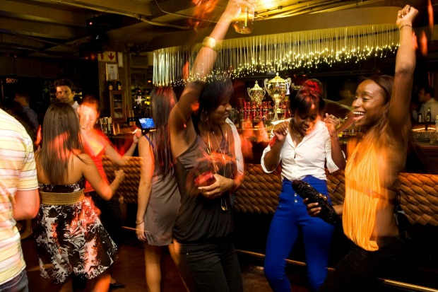 There is plenty of nightlife in Cape Town: Hemisphere nightclub, Western Cape, South Africa.