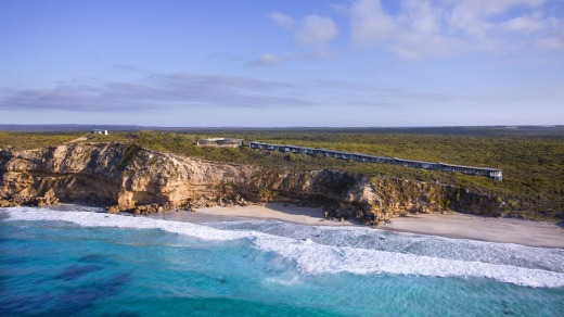 Lap of luxury: The Southern Ocean lodge on Kangaroo Island is a great spot for family getaways.