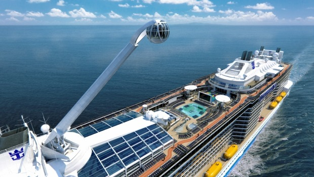 Quantum of the Seas' North Star: This glass observation capsule rises more than 300 feet in the air to give passengers ...
