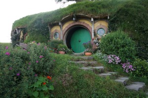 Famous door: The entrance to the Baggins Hole.