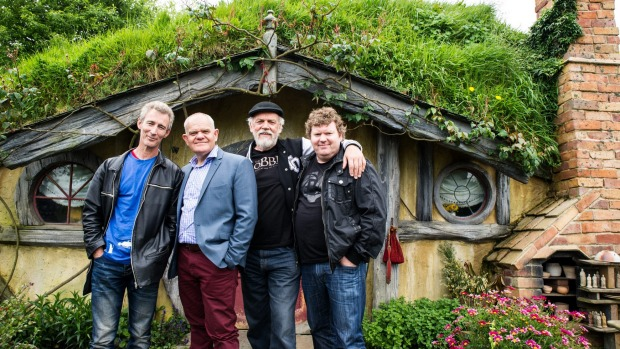 Adventure: A happy company of Dwarves on a return visit. Left to right: Jed Brophy (Nori); Mark Hadlow (Dori), John ...