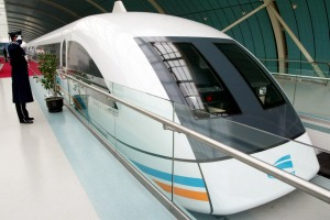 THE FASTEST TRAIN JOURNEY IN THE WORLD: Shanghai Maglev which reaches speeds of 430 kph on its 30.5 km stretch on the ...