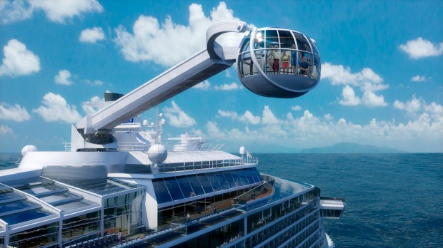 Into the future: The glass capsule observation deck.