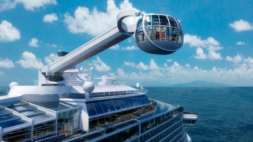 Into the future: Royal Caribbean's Quantum of the Seas glass capsule observation deck.