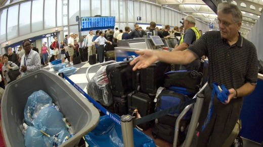 What we are now used to: Airport security.