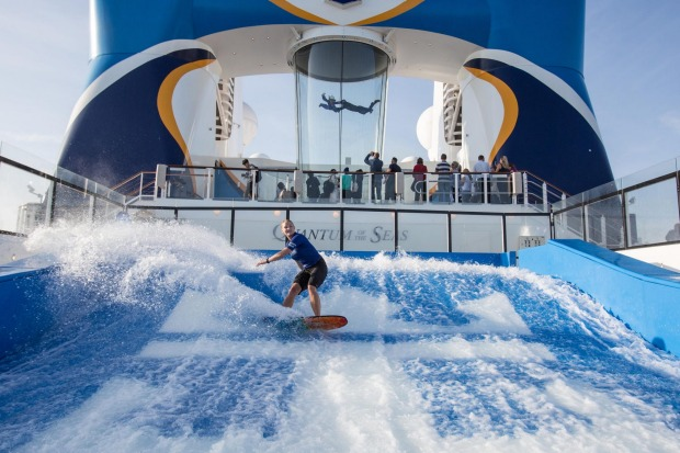 The Flowrider surf simulator.