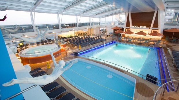 The pool on board Quantum of the Seas.