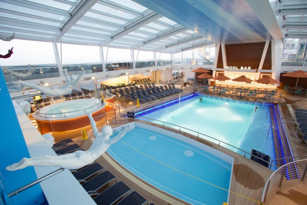 The pool on board.