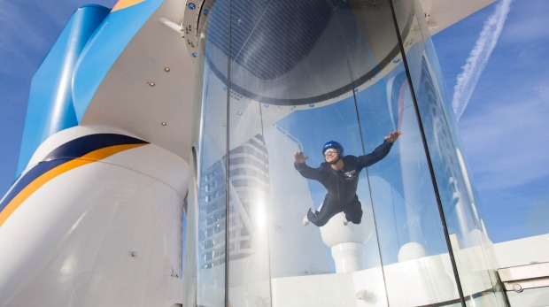 The Ripcord skydiving simulator on board Quantum of the Seas.