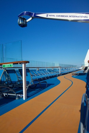 Quantum of the Seas features a running track on deck.