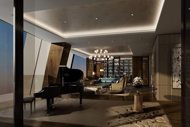 The presidential suite at the Sunrise Kempenski, Beijing, China.