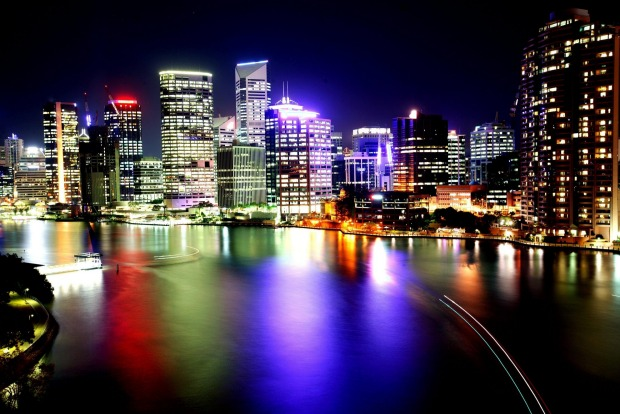 Brisbane's colourful cityscape.