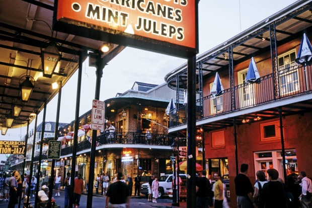 Outrageous Bourbon Street, in New Orleans' French Quarter.