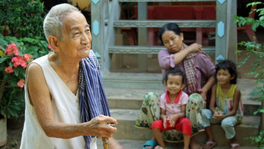 Three generations: A grandmother and her family in Angkor Ban village.