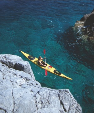 Sea safari: A kayaker enjoys the Turkish coast.