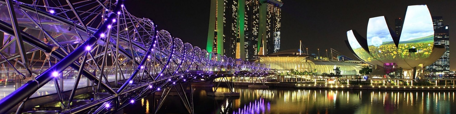 Helix Bridge, Marina Bay Sands, Singapore.