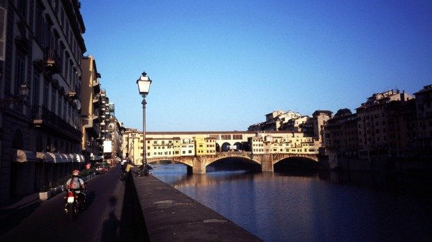 The Ponte Vecchio was the only bridge over the River Arno the retreating Nazis didn't destroy when they fled Florence.