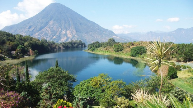 Lake Atitlan, ringed by volcanoes, in Guatemala: this may be one of the most spectacular places on the planet.
