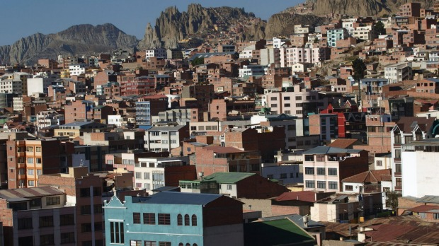 La Paz, Bolivia: Nothing matches the sight of flying in to this Central American capital.