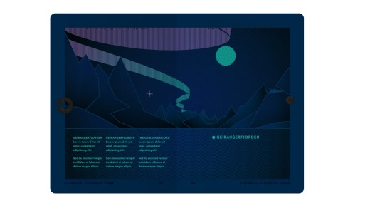 Under UV light, The Northern Lights become visible on the pages of a Norwegian passport.
