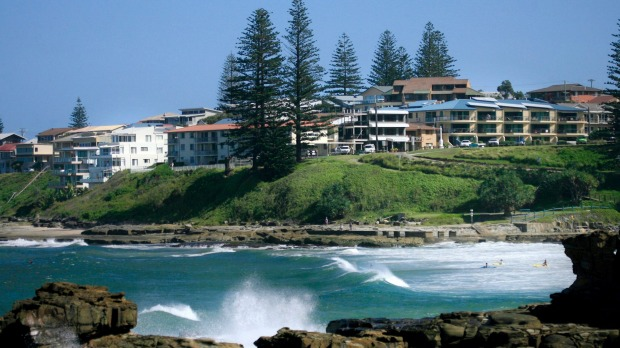 Units line the coast of Yamba.