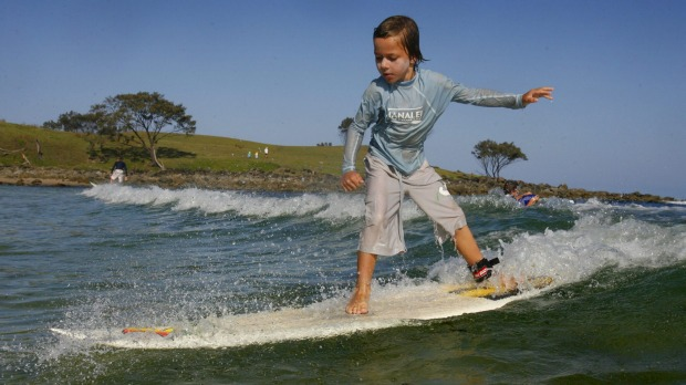 Angourie, south of Yamba, has one of the country's best surf beaches.