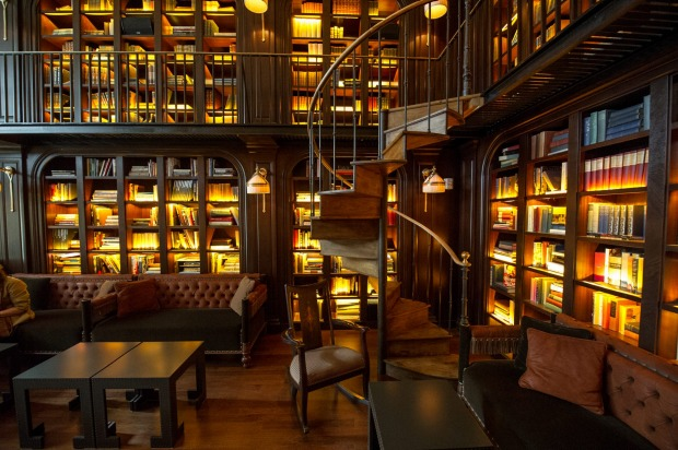 The NoMad in New York has a sensational Library Bar, lined floor-to-ceiling with books and including a spiral staircase ...